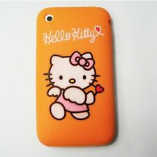 cover custodia silicone hello kitty arancione orange Iphone 3G - 3GS