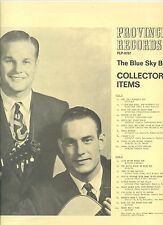 BLUE SKY BOYS collector's items PROVENICA REC NEAR MINT LP RARE