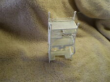Miniature Etagere, White Painted Wire & Metal