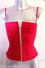 bustino rosso con lacci luxe VANNINA VESPERINI taglia 38 NUOVO CON ETICHETTA v