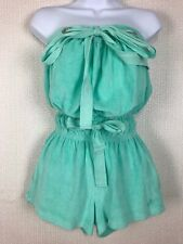 FRENCH CONNECTION Turquoise Towel Playsuit XS 6 8 10 Boob Tube Beach Swim Pool