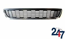 NEW VW POLO 6R FRONT BUMPER LOWER CENTER GRILLE WITH CHROME TRIM 2009-2014