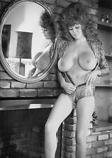 1960s Nude Pinup tall, big hair and huge DD breasts 8 x 10 Photograph