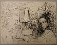 Dessin Original Encre EDOUARD GOERG (1893-1969) Joueurs. EG19