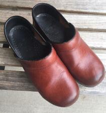 DANSKO Professional Leather Clogs Shoes Size EU 37 - US 6.5-7 Brown