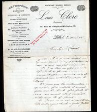 """LILLE (59) ORTHOPEDIE & MATERIEL MEDICAL """"BORGHI / Louis CLERC"""" en 1905"""