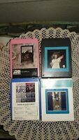 LOT OF 4; 8 TRACK TAPES: DEEP PURPLE, LED ZEPPELIN, NATALIE COLE, LINDA RONSTADT