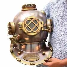 Antique Diving Helmet US Navy Mark V Deep Sea Marine Divers Helmet Scuba