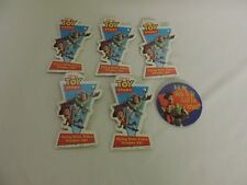 HUGE VTG PIN BUTTON LOT LAPEL HAT PINS Disney TOY STORY VIDEO STORE PROMOTIONAL