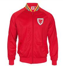 Wales Cymru FAW Official Football Gift Boys Kids Retro Track Top Jacket