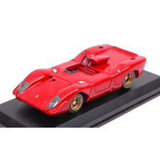 FERRARI 312 P SPYDER '69 RED 1:43 Best Model Auto Stradali Die Cast Modellino