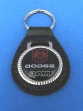 DODGE TRUCKS RAM LEATHER KEYCHAIN KEY CHAIN RING FOB #061 BLACK