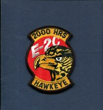 GRUMMAN E-2 C HAWKEYE 2000 FLIGHT HOURS US NAVY VAW Squadron Crew Jacket Patch