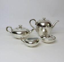 ART DECO Elegantes, versilbertes 4tlg. Kaffee-Teeservice WMF, Porzellan Heinrich