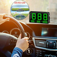 Heads Up Display Plug & Play Digital Display GPS Speedometer Overspeed Warning