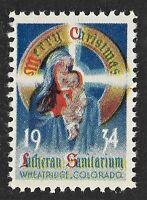 1934 Lutheran Sanatorium Seal from Wheat Ridge in Colorado