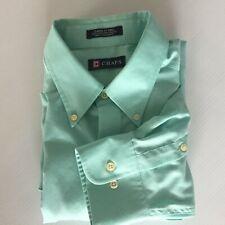 Chaps Mens Classic Fit 16 16 1/2 Pale Green Long Sleeve Dress Shirt