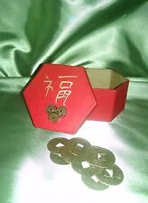 Feng Shui Prosperity Red Wealth Box  with 9 Feng Shui coins