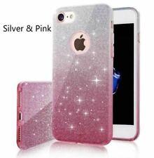 COVER GLITTER Custodia Morbida Silicone GEL per Apple iPhone 7 Rosa Argento