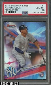 2017 Bowman's Best Refractor Aaron Judge Yankees RC Rookie PSA 10 GEM MINT