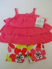 Carter's Infant Girls Two-piece Short Set Flower Summer Wear Size 3M NWT