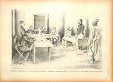 Expédition de Madagascar Conseil de Guerre du Tirailleur Botou 1895 ILLUSTRATION