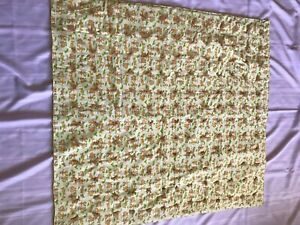 Handmade Baby Quilt ~ Yellow ~ size 44 in x 42 in