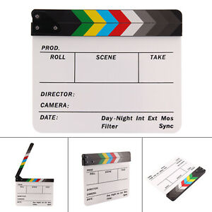 Director Film Clapperboard Dry Erase Movie TV Cut Action Scene Clapper Board UK