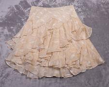 e20e4b8b980 Ralph Lauren Womens Beige Animal Print Layered Skirt Size 12