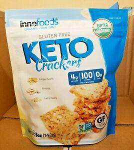 Innofoods Organic Gluten Free Keto Crackers 5 oz  NON- GMO