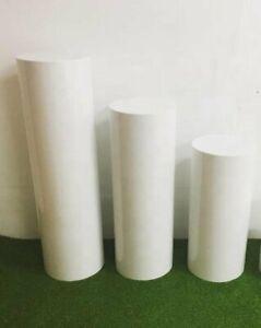 Round White Wedding Display Plinth Cake Stand Sale- Set of 3(80cm, 60cm & 40)