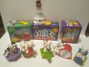Mcdonald's Happy Meal Toys 101 Dalmatians Snow Globes A Lot Of For Pre-Owned