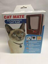NEW IN BOX Cat Mate Electromagnetic Cat Flap- Brown Ref 254B