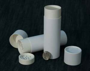 6 Eco Shakers 4oz 125g - Paper Cardboard Cosmetics Container Powder Sifter Tube
