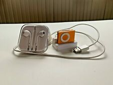 Apple iPod Shuffle 2nd Gen= Orange 1GB - w/ Charging Dock & Headphones bundled