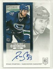 2013/14 Panini Contenders Hockey Ryan Stanton Autographed Rookie Ticket Card