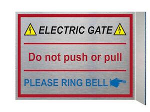 UV105 ELECTRIC GATE RING BELL Right Digital Aluminium Composite Plaque Sign Door