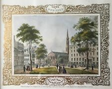 Vues de New-York : St. Paul, Barnum, Astor House Chromolithographie fin du XIXs