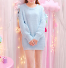Kawaii Cute cartoon fantasy Lady GAGA barbie Long Sleeve Sweater Top Shirt Dress