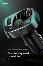 Baseus Car Charger for iPhone Mobile Phone Handsfree FM Transmitter Bluetooth Ca