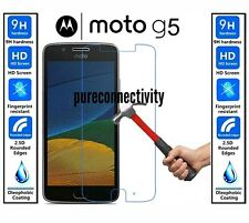 Ultra Thin Clear HD Tempered Glass Protective Screen Cover for Moto G5 (2017)