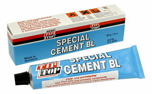 Rema Tip Top Special Vulcanizing Cement Blue Glue 30g Tube Tyre Repair Plugs