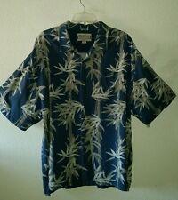 Nice JAMAICA JAXX Size  XXL Silk Shirt w/Pocket Bamboo Print