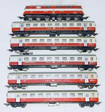 6x Lima HO Swiss SBB-CFF LOCOMOTIVE Re 6/6 & SWISS EXPRESS WAGON SET NM`85 RARE!
