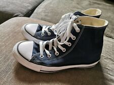Navy Blue High Top Converse Size 6