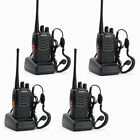 4 x BAOFENG BF-888S UHF 400-470MHz 5W 16CH Two Way Radio Walkie Talkies Black