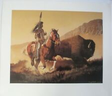 """Daryl Poulin - """"The Chase"""" - Limited Edition Print / Buffalo Western"""