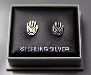 STERLING SILVER 925, STUD EARRINGS, HAMSA HAND OF PROTECTION LARGE, ,STUD 205