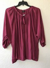 Simply Emma Women's New Beet Red Long Sleeve Blouse Top Size 2X