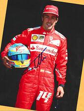 Fernando ALONSO - FERRARI - SUPER - AK Bild (2) + 2 Orig. AK F1 signiert gratis